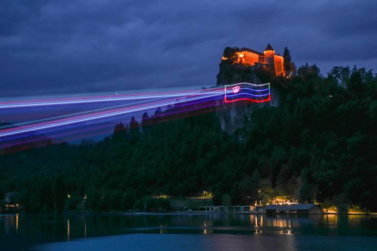 Laser projekcija na Bledu